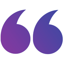Purple Quotation Mark - Right