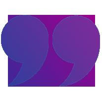 Purple Quotation Mark - Left
