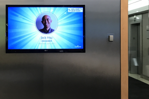 SenseiTV welcome screen for new team members