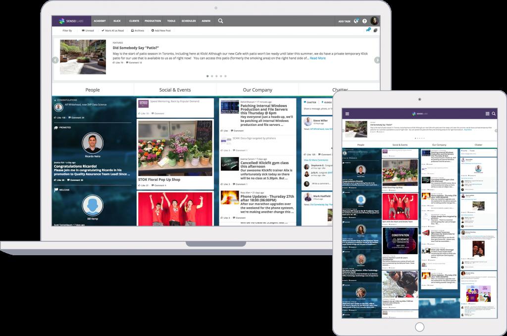 News homepage on desktop and mobile