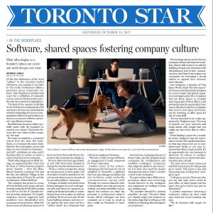Toronto Star Article- Oct 2017
