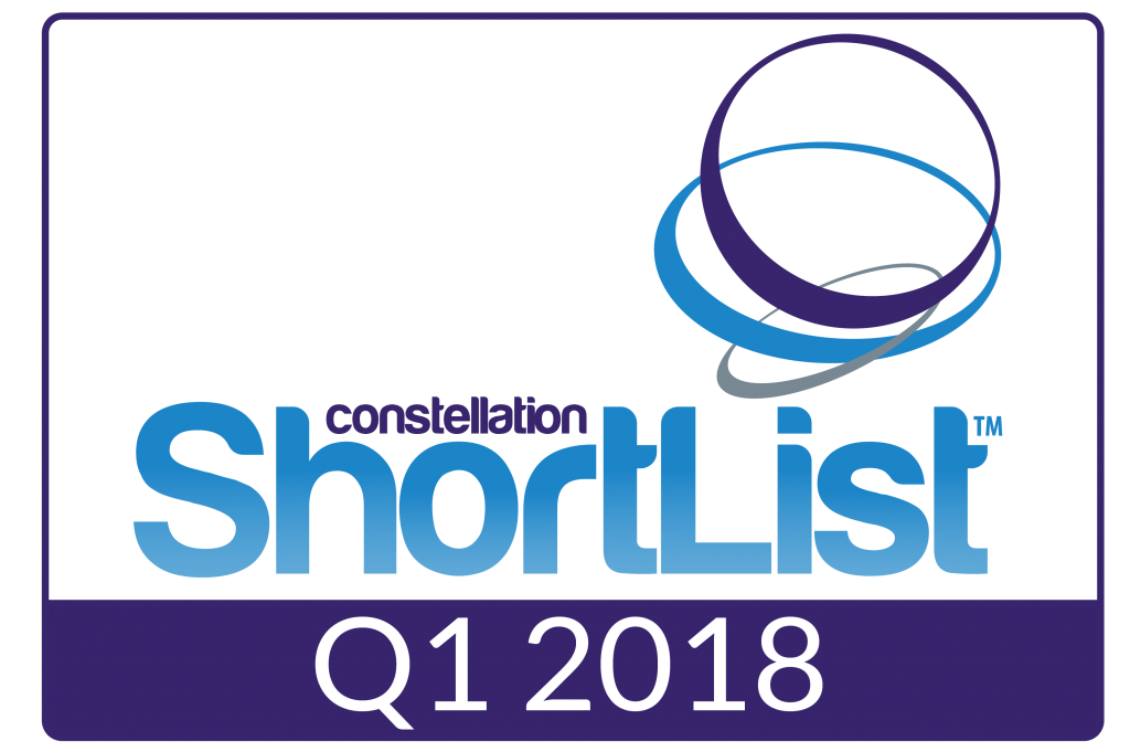 constellation research shortlist badge Q1 2018