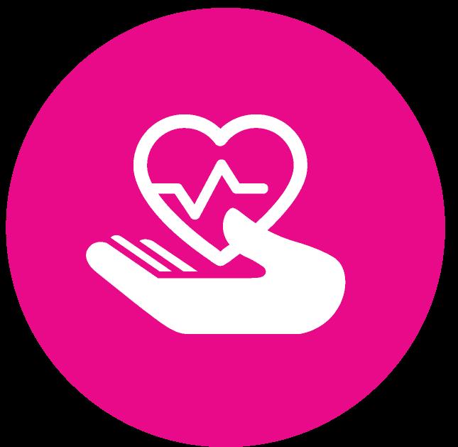Improve health outcomes icon