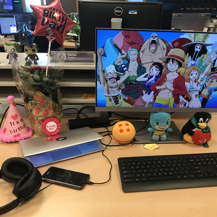 Gabi's desk